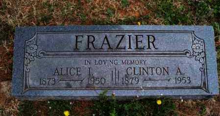 FRAZIER, ALICE I - Montgomery County, Kansas   ALICE I FRAZIER - Kansas Gravestone Photos