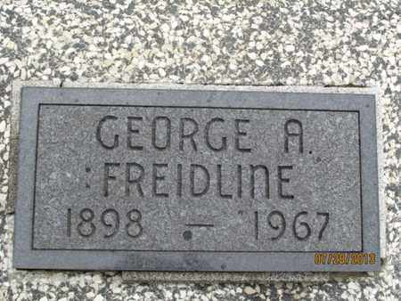 FREIDLINE, GEORGE A - Montgomery County, Kansas | GEORGE A FREIDLINE - Kansas Gravestone Photos