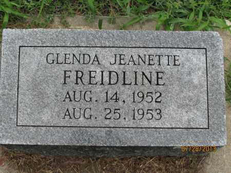 FREIDLINE, GLENDA JEANETTE - Montgomery County, Kansas | GLENDA JEANETTE FREIDLINE - Kansas Gravestone Photos