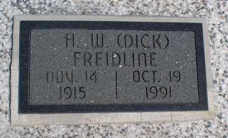 "FREIDLINE, H  W ""DICK"" - Montgomery County, Kansas   H  W ""DICK"" FREIDLINE - Kansas Gravestone Photos"