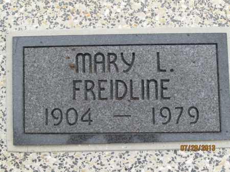 FREIDLINE, MARY L. - Montgomery County, Kansas   MARY L. FREIDLINE - Kansas Gravestone Photos
