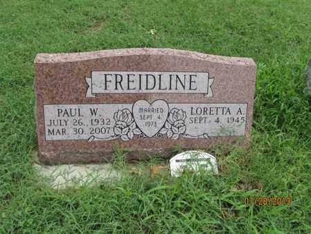 FREIDLINE, PAUL W - Montgomery County, Kansas   PAUL W FREIDLINE - Kansas Gravestone Photos