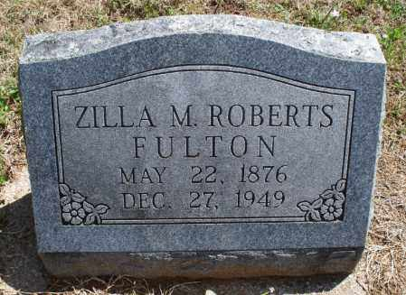 ROBERTS FULTON, ZILLA M - Montgomery County, Kansas | ZILLA M ROBERTS FULTON - Kansas Gravestone Photos