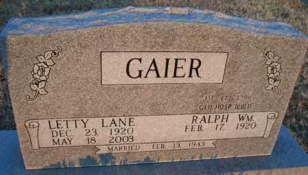 GAIER, LETTY   - Montgomery County, Kansas   LETTY   GAIER - Kansas Gravestone Photos
