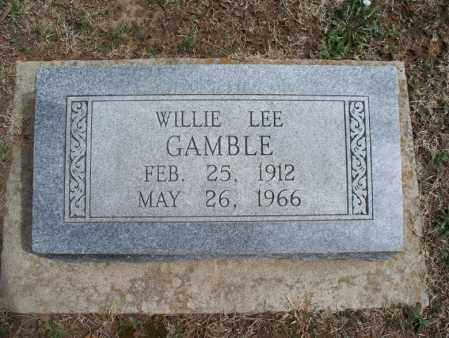 GAMBLE, WILLIE LEE - Montgomery County, Kansas | WILLIE LEE GAMBLE - Kansas Gravestone Photos