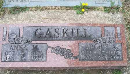 GASKILL, ARCHIE A - Montgomery County, Kansas | ARCHIE A GASKILL - Kansas Gravestone Photos