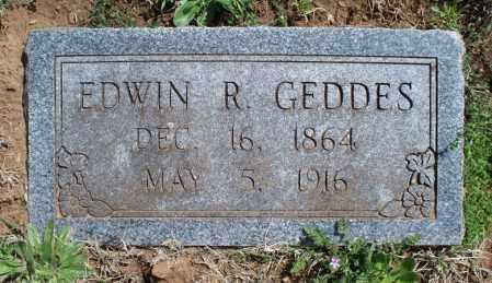 GEDDES, EDWIN R - Montgomery County, Kansas   EDWIN R GEDDES - Kansas Gravestone Photos