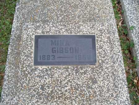 GIBSON, MINA E - Montgomery County, Kansas | MINA E GIBSON - Kansas Gravestone Photos