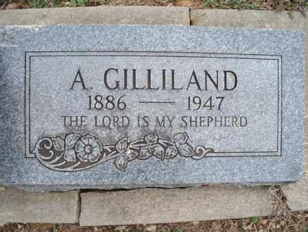 GILLILAND, A - Montgomery County, Kansas | A GILLILAND - Kansas Gravestone Photos