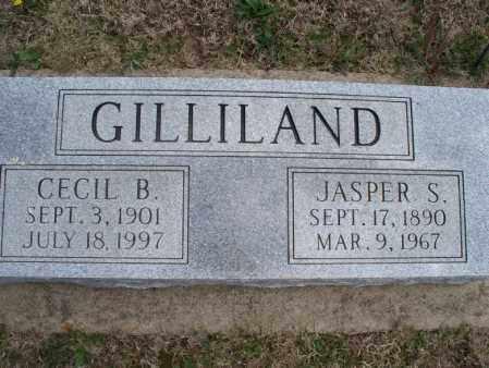 GILLILAND, CECIL B - Montgomery County, Kansas | CECIL B GILLILAND - Kansas Gravestone Photos