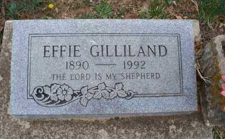 GILLILAND, EFFIE - Montgomery County, Kansas   EFFIE GILLILAND - Kansas Gravestone Photos