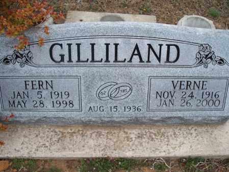 GILLILAND, FERN - Montgomery County, Kansas | FERN GILLILAND - Kansas Gravestone Photos