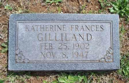 GILLILAND, KATHERINE FRANCES - Montgomery County, Kansas | KATHERINE FRANCES GILLILAND - Kansas Gravestone Photos