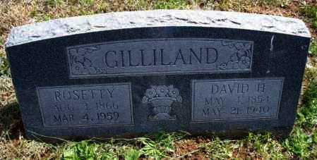 GILLILAND, ROSETTY - Montgomery County, Kansas   ROSETTY GILLILAND - Kansas Gravestone Photos