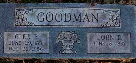 GOODMAN, JOHN D. - Montgomery County, Kansas | JOHN D. GOODMAN - Kansas Gravestone Photos