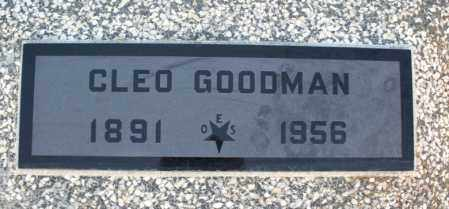 GOODMAN, CLEO - Montgomery County, Kansas   CLEO GOODMAN - Kansas Gravestone Photos