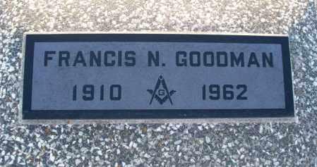 GOODMAN, FRANCIS NEVISON - Montgomery County, Kansas   FRANCIS NEVISON GOODMAN - Kansas Gravestone Photos