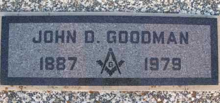 GOODMAN, JOHN D - Montgomery County, Kansas | JOHN D GOODMAN - Kansas Gravestone Photos