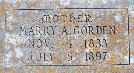 GORDEN, MARRY A - Montgomery County, Kansas | MARRY A GORDEN - Kansas Gravestone Photos