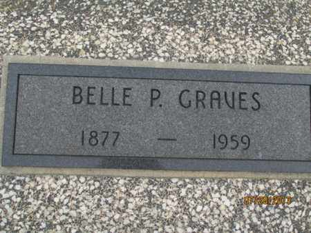 GRAVES, BELLE P - Montgomery County, Kansas   BELLE P GRAVES - Kansas Gravestone Photos