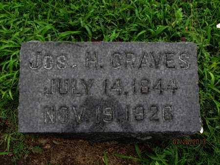 GRAVES, JOSEPH H - Montgomery County, Kansas   JOSEPH H GRAVES - Kansas Gravestone Photos