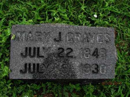 GRAVES, MARY J - Montgomery County, Kansas   MARY J GRAVES - Kansas Gravestone Photos