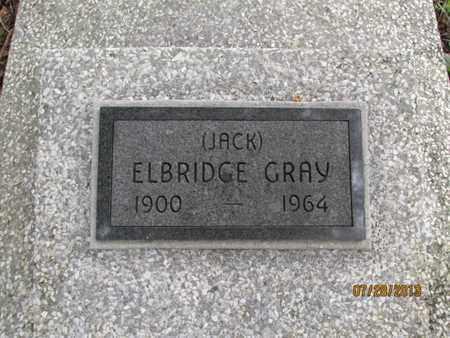 "GRAY, ELBRIDGE ""JACK"" - Montgomery County, Kansas   ELBRIDGE ""JACK"" GRAY - Kansas Gravestone Photos"