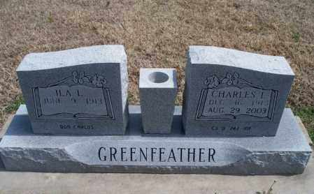 DONCARLOS GREENFEATHER, ILA LEA - Montgomery County, Kansas | ILA LEA DONCARLOS GREENFEATHER - Kansas Gravestone Photos