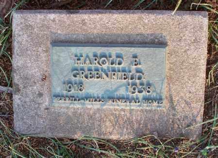 GREENFIELD, HAROLD E - Montgomery County, Kansas   HAROLD E GREENFIELD - Kansas Gravestone Photos