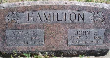 HAMILTON, JOHN H - Montgomery County, Kansas   JOHN H HAMILTON - Kansas Gravestone Photos