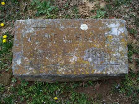 HANKS, CLYDE C - Montgomery County, Kansas   CLYDE C HANKS - Kansas Gravestone Photos