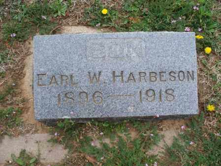 HARBESON, EARL W. - Montgomery County, Kansas   EARL W. HARBESON - Kansas Gravestone Photos
