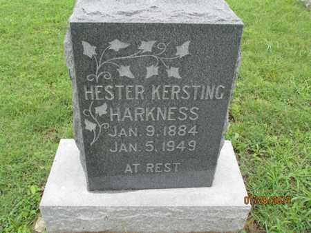 KERSTING HARKNESS, HESTER - Montgomery County, Kansas | HESTER KERSTING HARKNESS - Kansas Gravestone Photos