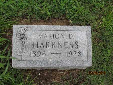 HARKNESS, MARION D - Montgomery County, Kansas | MARION D HARKNESS - Kansas Gravestone Photos