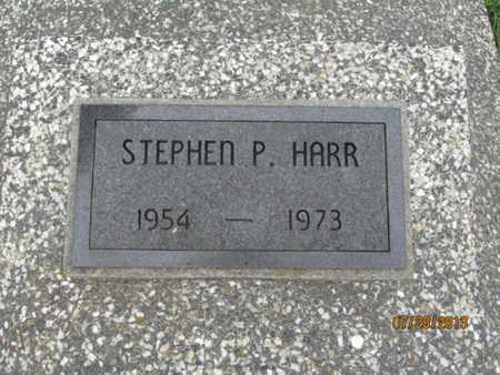 HARR, STEPHEN P - Montgomery County, Kansas   STEPHEN P HARR - Kansas Gravestone Photos