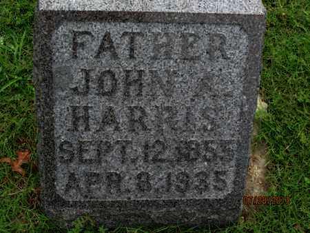 HARRIS, JOHN A - Montgomery County, Kansas   JOHN A HARRIS - Kansas Gravestone Photos
