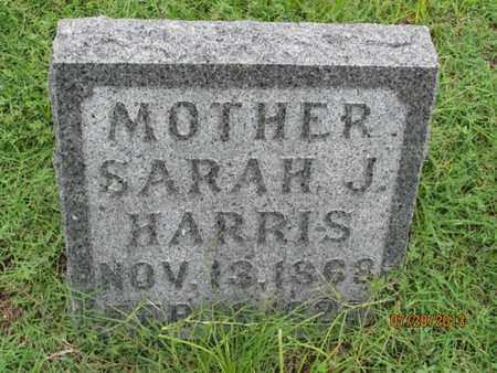 HARRIS, SARAH J - Montgomery County, Kansas   SARAH J HARRIS - Kansas Gravestone Photos