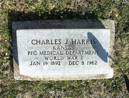 HARRIS, CHARLES J   (VETERAN WWI) - Montgomery County, Kansas | CHARLES J   (VETERAN WWI) HARRIS - Kansas Gravestone Photos