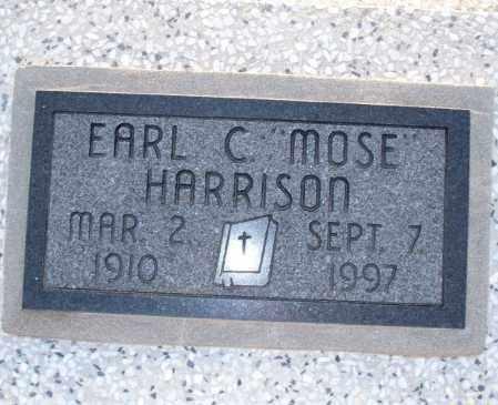 "HARRISON, EARL C  ""MOSE"" - Montgomery County, Kansas   EARL C  ""MOSE"" HARRISON - Kansas Gravestone Photos"