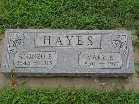 HAYES, MARY E - Montgomery County, Kansas | MARY E HAYES - Kansas Gravestone Photos