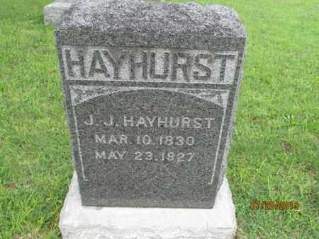 HAYHURST, J  J - Montgomery County, Kansas | J  J HAYHURST - Kansas Gravestone Photos