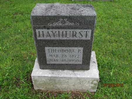 HAYHURST, THEODORE P - Montgomery County, Kansas | THEODORE P HAYHURST - Kansas Gravestone Photos