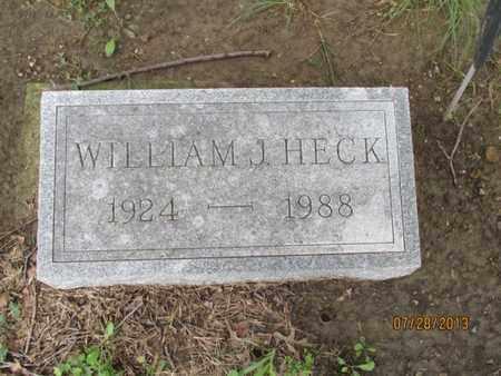HECK, WILLIAM J - Montgomery County, Kansas | WILLIAM J HECK - Kansas Gravestone Photos