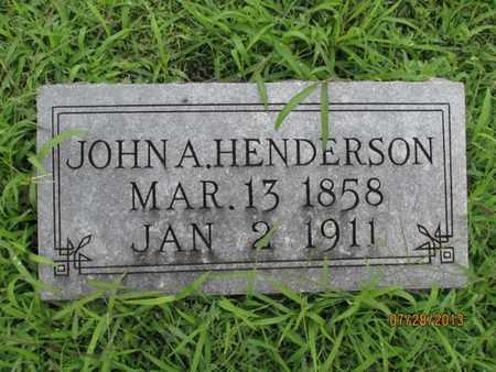 HENDERSON, JOHN A - Montgomery County, Kansas | JOHN A HENDERSON - Kansas Gravestone Photos