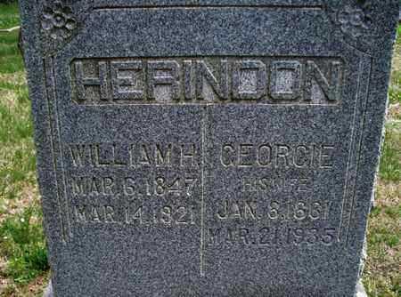 HERINDON, WILLIAM H. - Montgomery County, Kansas | WILLIAM H. HERINDON - Kansas Gravestone Photos