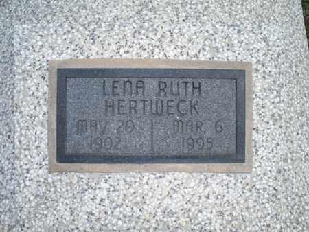 HERTWECK, LENA RUTH - Montgomery County, Kansas | LENA RUTH HERTWECK - Kansas Gravestone Photos