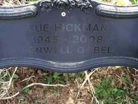 HICKMAN, SUE - Montgomery County, Kansas | SUE HICKMAN - Kansas Gravestone Photos