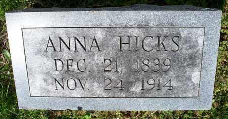 HICKS, ANNA - Montgomery County, Kansas   ANNA HICKS - Kansas Gravestone Photos