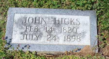 HICKS, JOHN - Montgomery County, Kansas | JOHN HICKS - Kansas Gravestone Photos