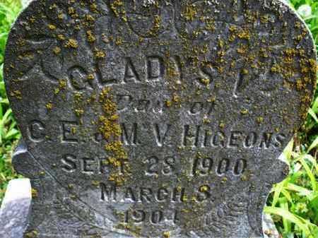 HIGEONS, GLADYS V - Montgomery County, Kansas   GLADYS V HIGEONS - Kansas Gravestone Photos